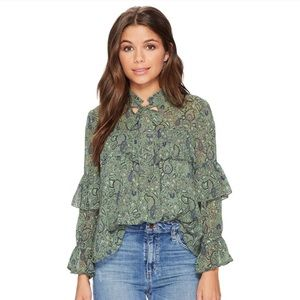 Lucky Brand Paisley Floral Blouse